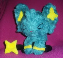 Grumpy Shinx Commission by StitchyGirl