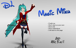 MMD - PD Style - Magic Miku ! [DL] by NyaLinaa