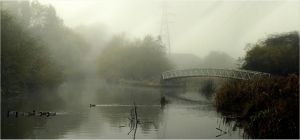 river Soar in the morning by Chrobal
