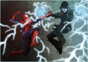 Spidey vs Electro by TovMauzer