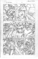Transformers: Dark Cybertron #1 Page 2 Pencils by curiopraxis