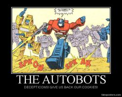 1 autobots want there cookies by XxflamestarxX