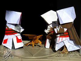 Assassin's Creed Origami n.2b by NocturnaDraco