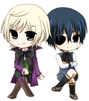 [ Alois Trancy + Ciel Phantomhive ] by WinterCupcake