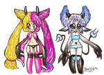 ++++POINT ADOPTABLES: DEMON CUTIES (SO CLOSED) by bearkind