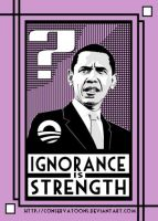 Ignorant President Obama by Conservatoons