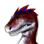 Drawing Challenge Day 345: Velociraptor Echo by hayy1