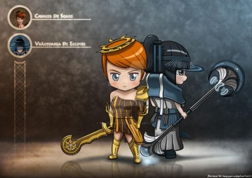 Chibi Versions of the Queen's Guardians by FrostKnight-IcE