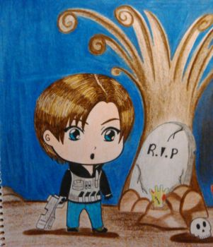 Leon Chibi Kennedy by NewLeonandClaireBSAA