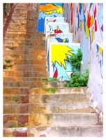 Stairs in Valparaiso by ccordovez
