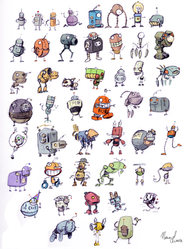 48 tiny Robots by Sonicrumpets