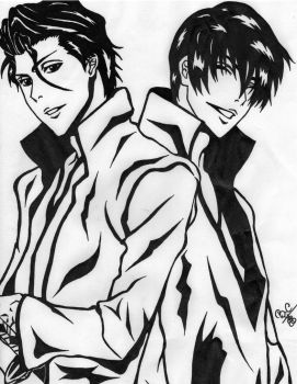 Aizen and Gin by Clauditzasng