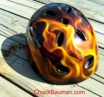 Realistic Flames Skater Helmet by crb1177