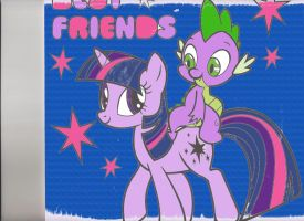 Twilight Sparkle and Spike: Best Friends by Hyper-Sentai-King