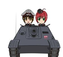 Girls und JagdPanther by DeSynchronizer