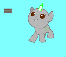MLP Base 4 I'm Too Cute to Look by snappleu