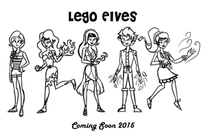 Lego Elves characters (uncolored) by theaproject