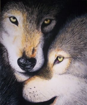 Wolf Painting by ChiroOokami
