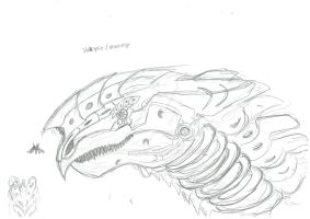Ace Combat: Gryphon Wings - Valkyrie (sketch) by SLWASKIT