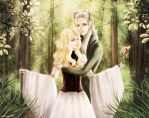Timariel and Thranduil by galia-and-kitty
