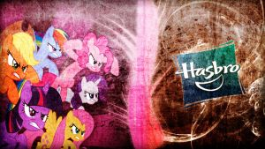 The Mane Six vs Hasbro - Wallpaper by Amoagtasaloquendo