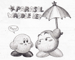 Parasol Waddle Dee with Kirby by Edofenrir
