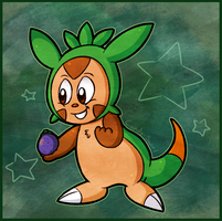 Chespin Gained 10HP by Candy-Swirl