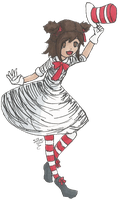 Cat In The Hat Lolita by SqueekyTheBalletRat