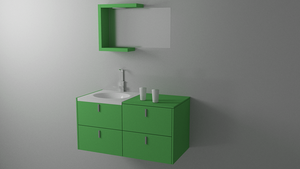 Clean Minimal Bathroom Furniture by HAZARDOS