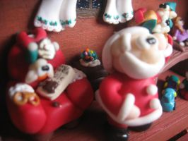 Christmas diorama: the hat full of candies! by SelloCreations