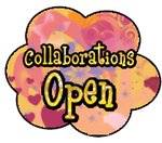 Collaborations open button by StrawberryCakeBunny