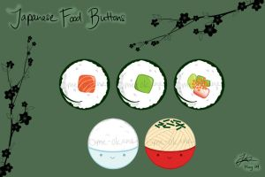 Buttons - Japanese Food by ome-okane