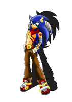 Blue Lighting Sonic by WinterGlace