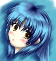 A girl of blue by Chitose-Ame