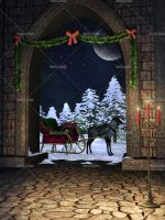 -50% BLACK FRIDAY - Christmas at the Castle by Trisste-stocks