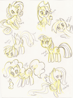 ponies sketch by angell0o0