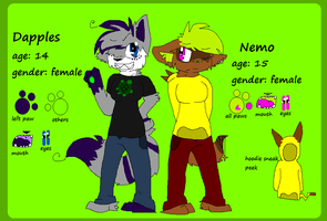 Nemo and Dapples ref sheet by cho-click