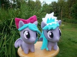 Cloud Chaser and Flitter Chibi Ponies by happybunny86