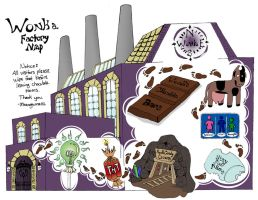 Willy Wonka Factory Map by ellestril