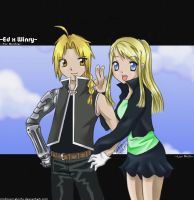 Edo x Winry equals Micchie by michirumakichi