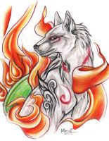 Okami - Amaterasu Commission by Sternen-Gaukler