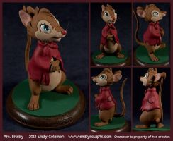 Commission : Mrs. Brisby, The Secret of NIMH by emilySculpts