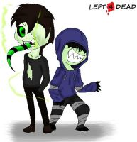 L4D Jack and Sarapen chibi version by Kalix5