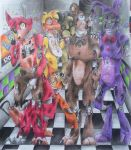 Five nights at freddys 2 Old Animatronics by InquisidoraS