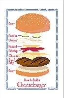 Cheeseburger Exploded View Cross Stitch Pattern by rhaben