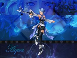 Kingdom hearts Aqua  v1 by LumenArtist