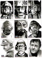 Star Wars Galaxy 7 sketchcards 10 by Frisbeegod