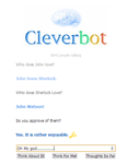 Cleverbot Ships Sherlock and John! by Epicgirl53