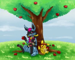 Friends Under a Tree PC by OrcaCookie
