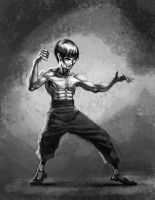 Bruce Lee WIP by lukeradl